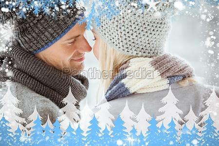 immagine composita di coppia in indumenti