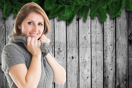 donna risata sorrisi lavagna pannello foglia