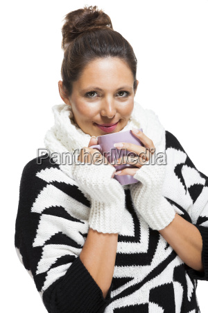 young attractive woman with black and
