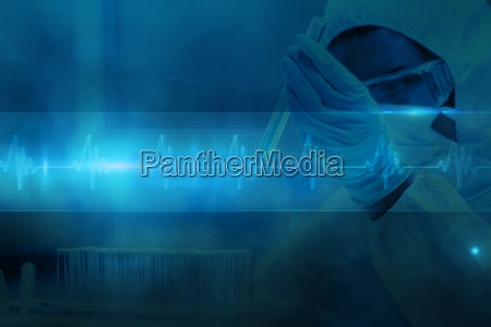 dottore medico blu bicchiere pericolo liquido