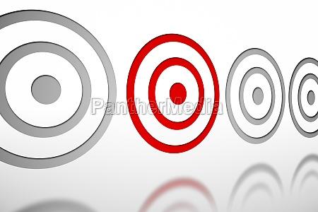 illustrazione obiettivo scopo digitale modello mirare