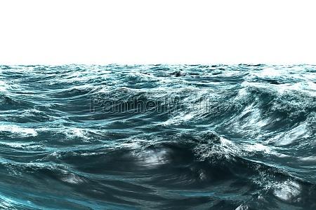 blu ruvido onde illustrazione digitale grossolano