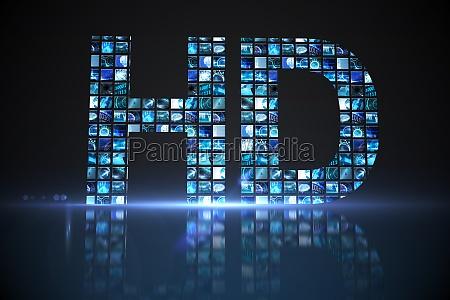 hd fatto di schermi digitali in