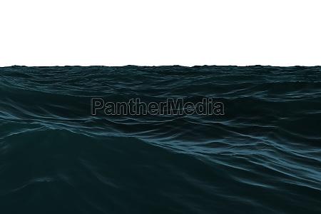 blu onde illustrazione digitale scuro buio