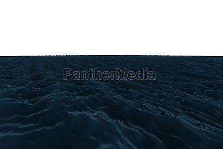 blu ruvido onde illustrazione digitale scuro