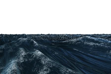 blu ruvido onde schiuma illustrazione digitale
