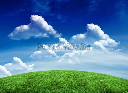 parco campo illustrazione nuvoloso digitale nuvole