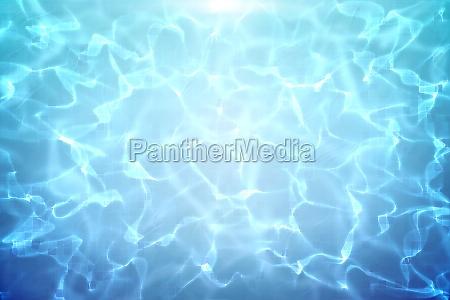 piscina blu sotto luce luminosa