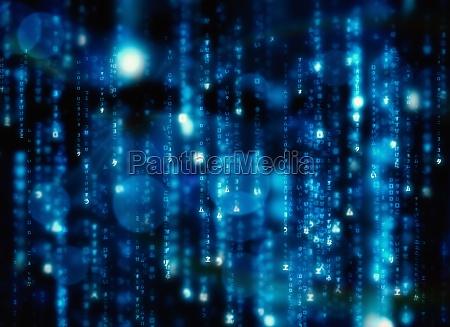 matrice nera e blu generata digitalmente