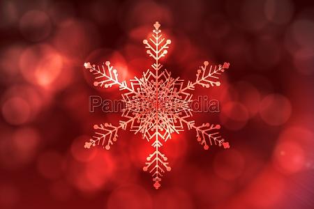inverno illustrazione delicato cristallo digitale fiocco