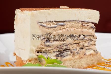 torta al cioccolato con gelato di