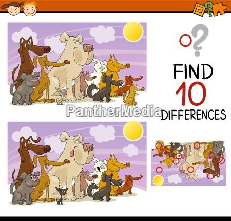 educazione cani illustrazione enigma trovare scoperta