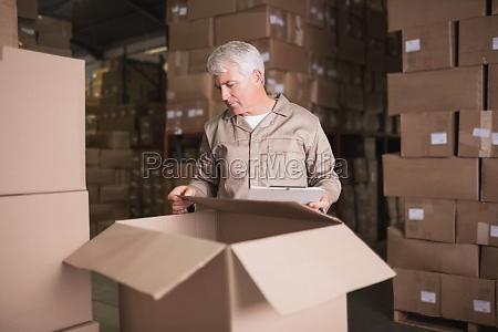 lavoratore magazzino appunti