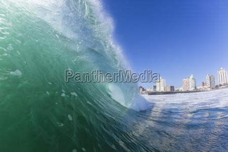 wave durban beach paesaggio