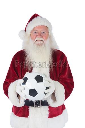 santa detiene un calcio classico