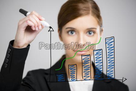 donna affari fare fronte vibrazione
