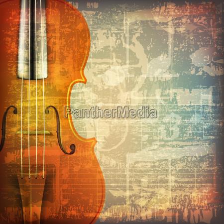 musica grunge astratto con violino