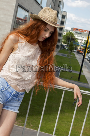 attractive young woman with long rooted
