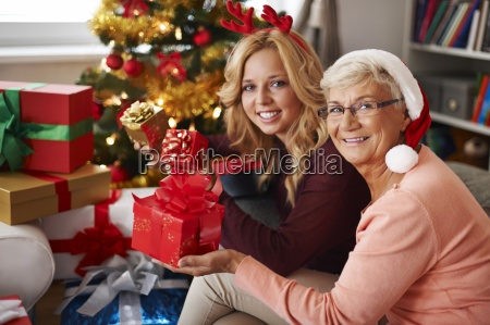 grandma always visits us at christmas