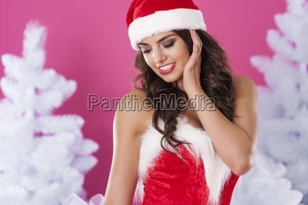 close up of sexy santa claus