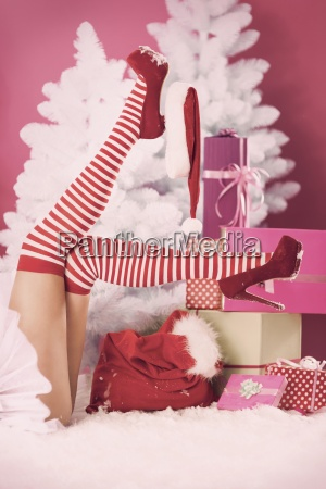 sexy moments for female santa claus