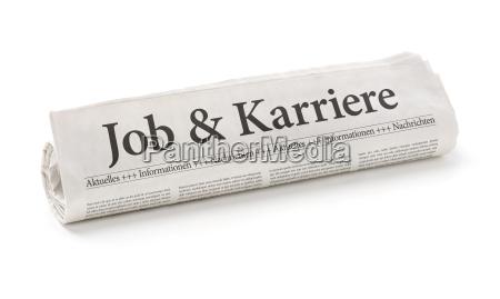 ruolo di giornale headfoderato lavoro e