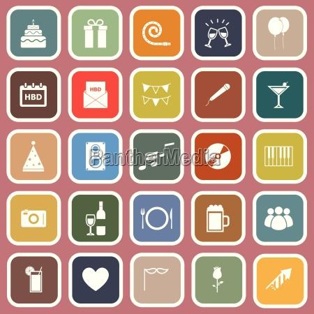 illustrazione simboli vettore icone compleanno