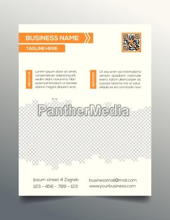 business flyer template sleek modern