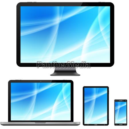portatile computer schermo digitale tecnologia multimedia