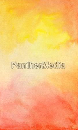 acquerello giallo arancio rosso