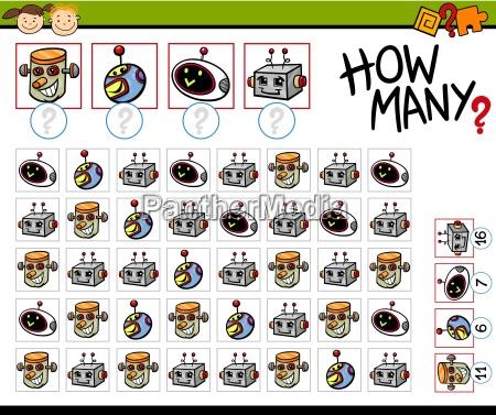 contando illustrazione del fumetto di gioco