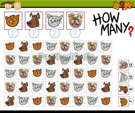 conteggio gioco illustrazione cartone animato
