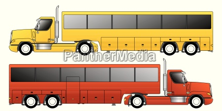 rimorchio per autobus per autocarri convenzionali