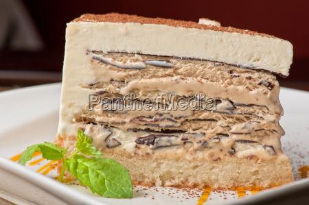 torta al cioccolato con gelato alla