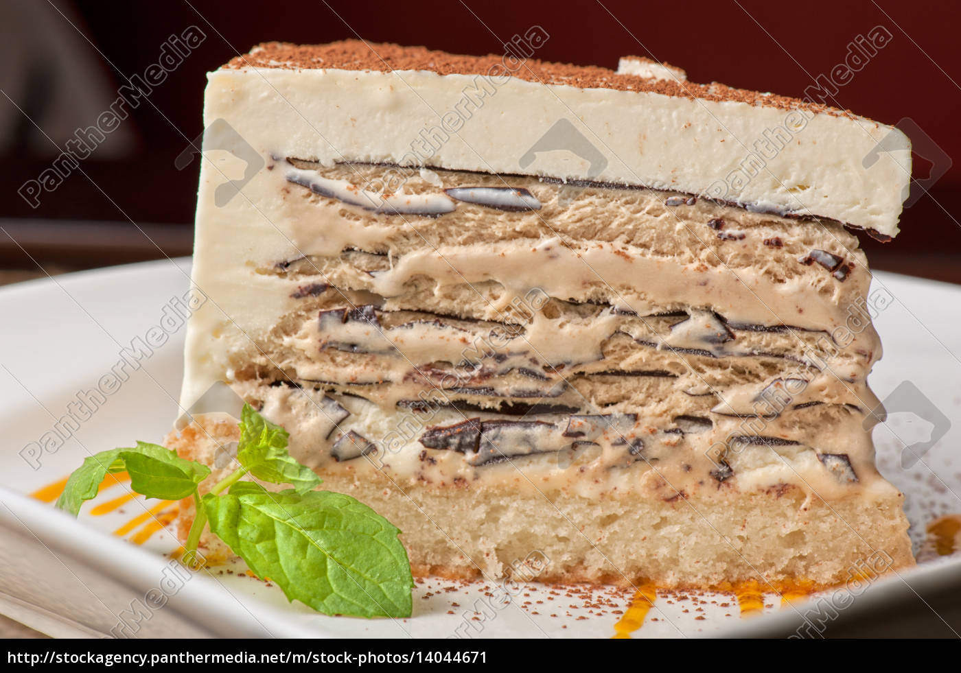 torta, al, cioccolato, con, gelato, alla - 14044671