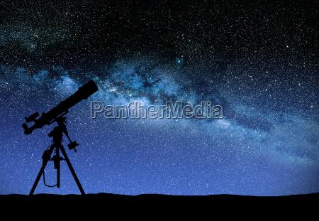latteo silhouette telescopio treppiedi modo stella