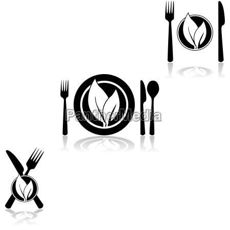 ristorante cibo foglia progettazione concetto modello