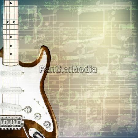 astratto grunge musica sfondo con chitarra