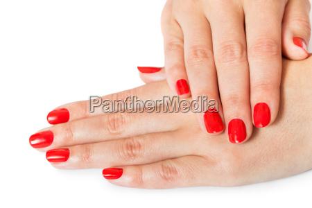 mani della donna con belle dita