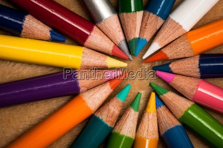 matite colorate in legno