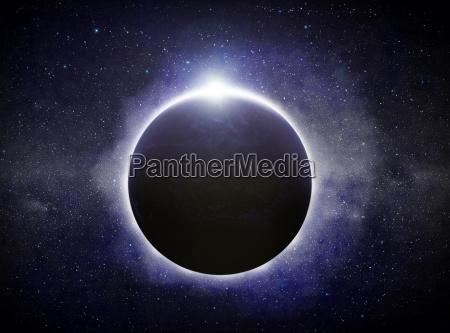 eclipse en el planeta tierra