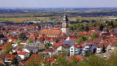 panorama di dossenheim sulla strada della