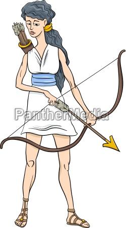 fumetto di artemide della dea greca