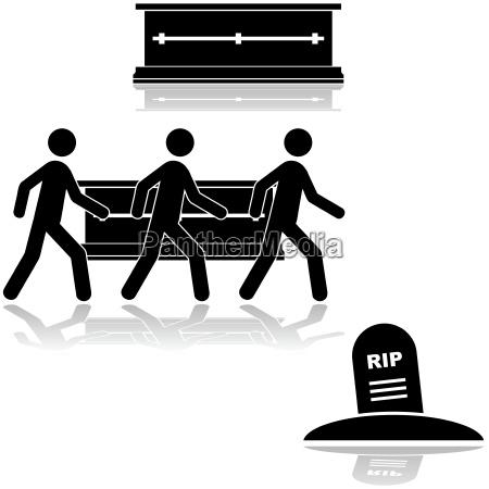 morte grafico triste nero riflesso cimitero