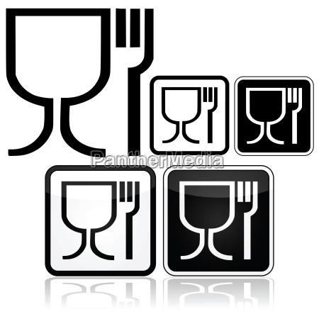 bicchiere cibo salute grafico industria nero