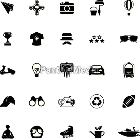 hipster icons on white background