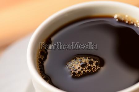 caffe nero in una tazza close