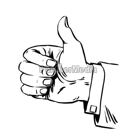 gesto e grande mano pollice qualita