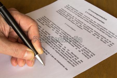 contratto acquisizione firma formulario modulo