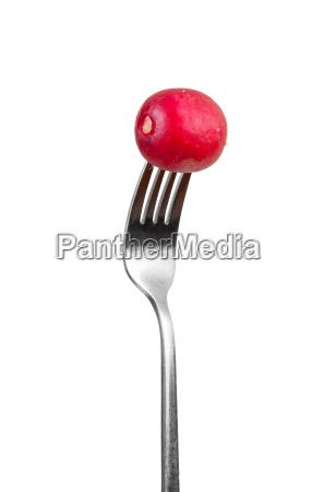 cibo rilasciato metallo appartato verdura forchetta